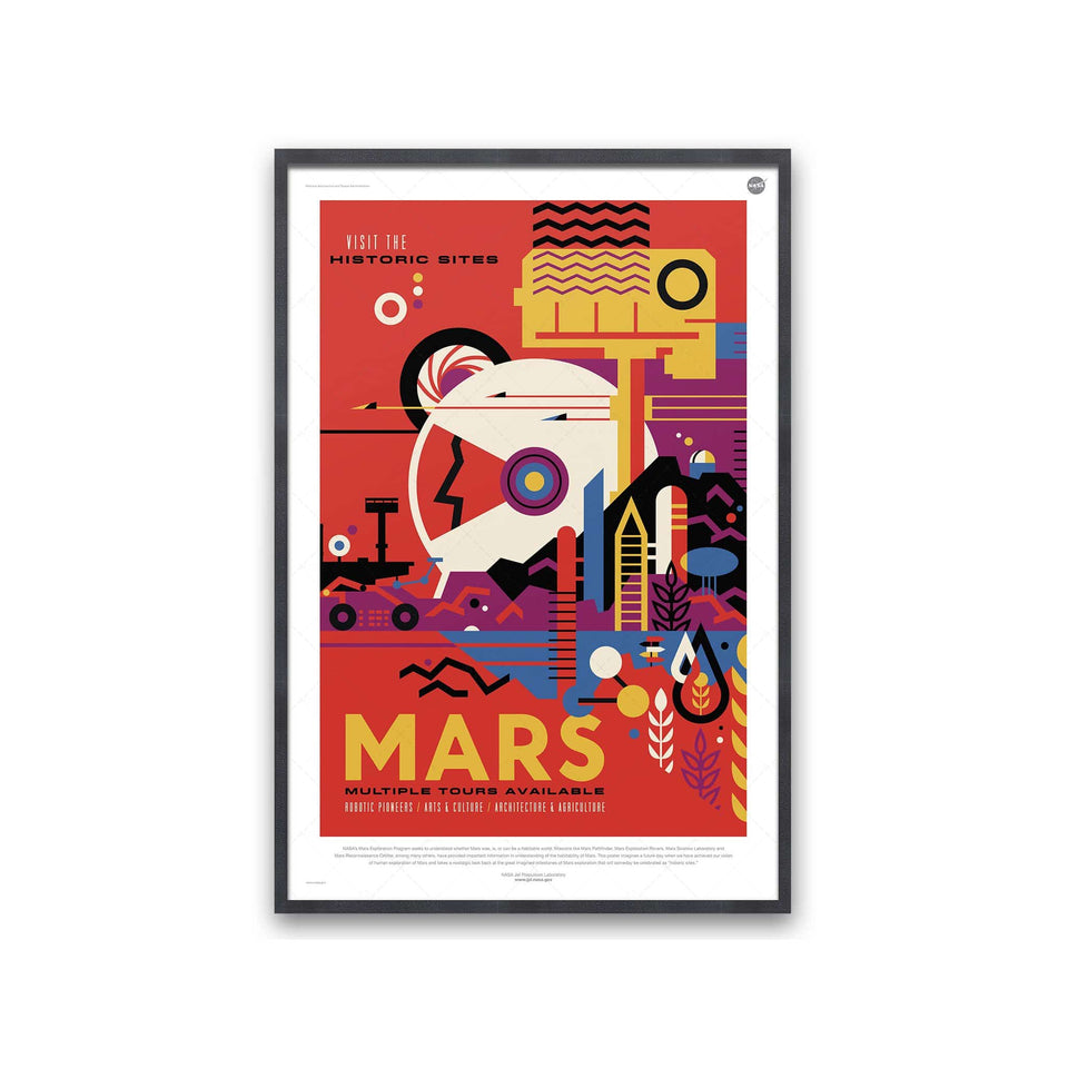 NASA Exoplanet Art - MARS Travel Poster