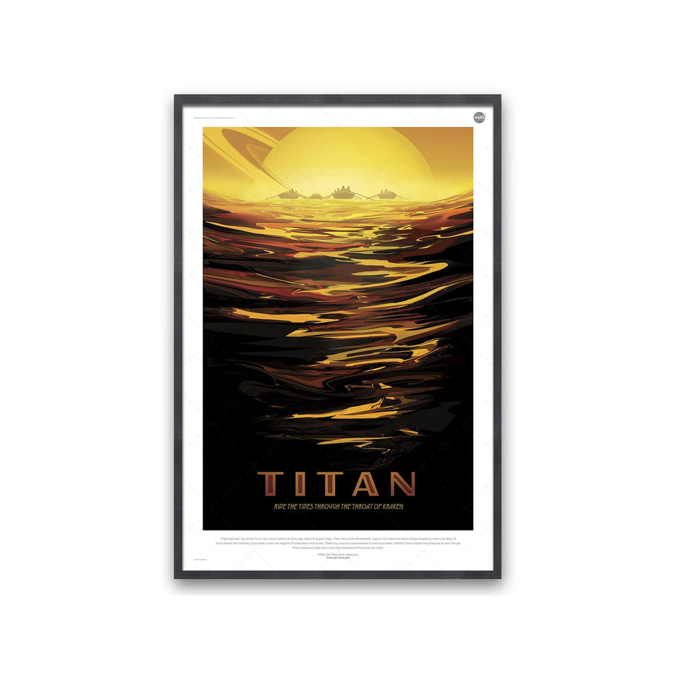 NASA Exoplanet Art - TITAN Travel Poster