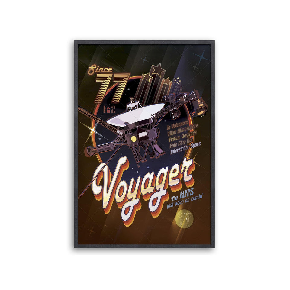 NASA Exoplanet Art - VOYAGER DISCO Poster - Foundry