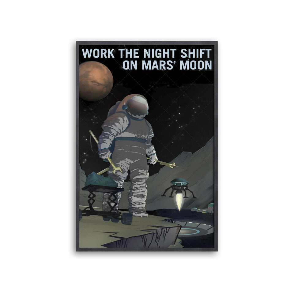 NASA Recruitment Poster - NIGHT SHIFT ON MARS