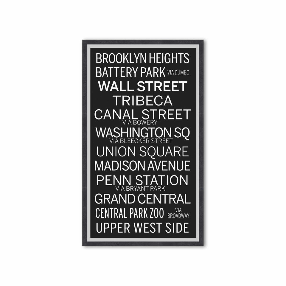 NEW YORK CITY Bus Scroll - BROOKLYN HEIGHTS - Foundry