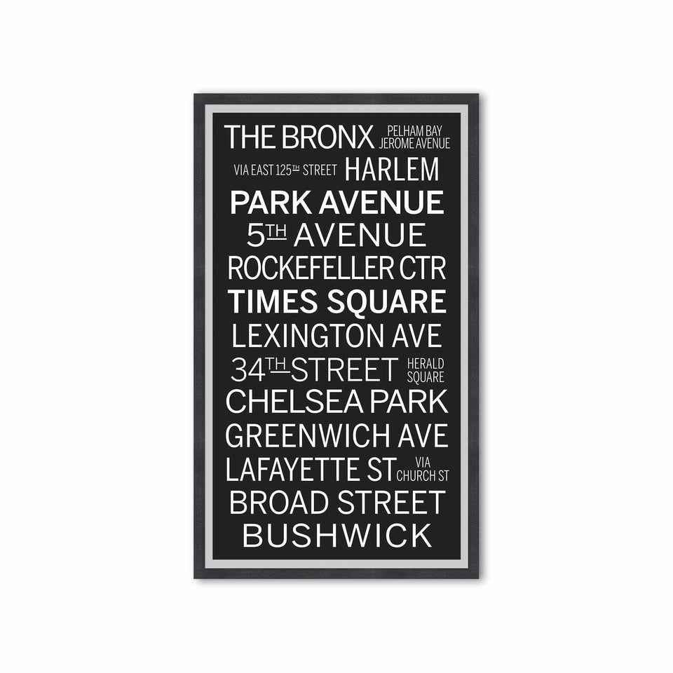 NEW YORK CITY Bus Scroll - THE BRONX - Foundry