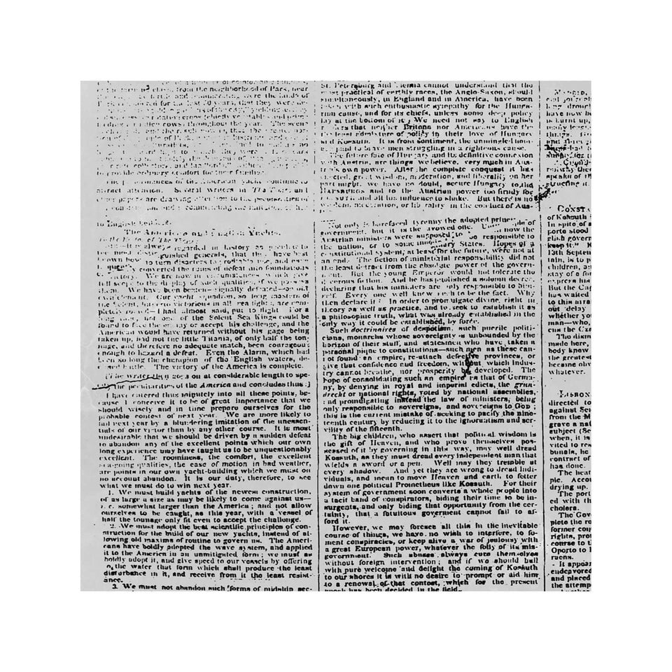 NEW YORK DAILY TIMES - First Issue, 1851 - Foundry