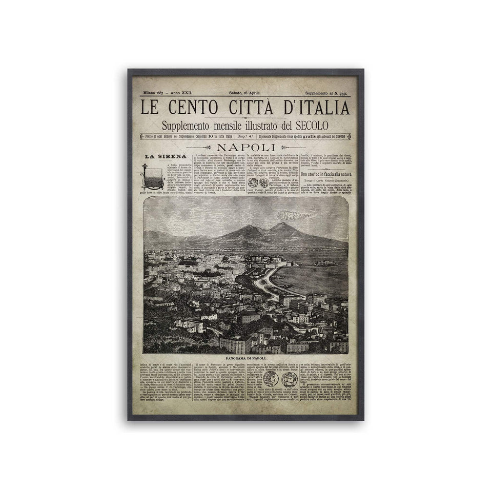 Old Italian Newspaper - NAPOLI, Circa 1887