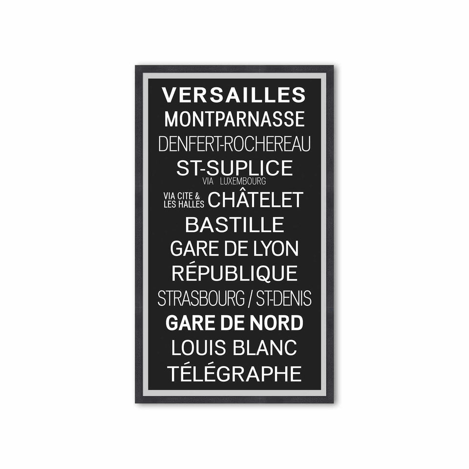 PARIS FRANCE Bus Scroll - VERSAILLES - Foundry