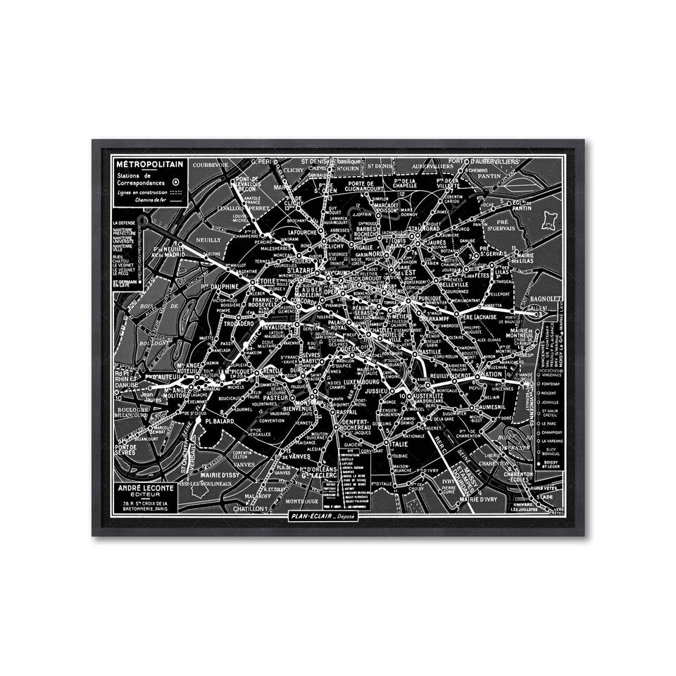 PARIS METRO Map - Foundry