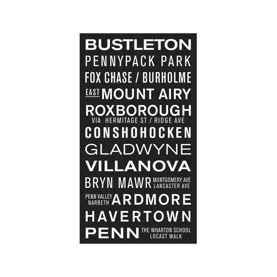 PHILADELPHIA PENNSYLVANIA Bus Scroll  - BUSTLETON