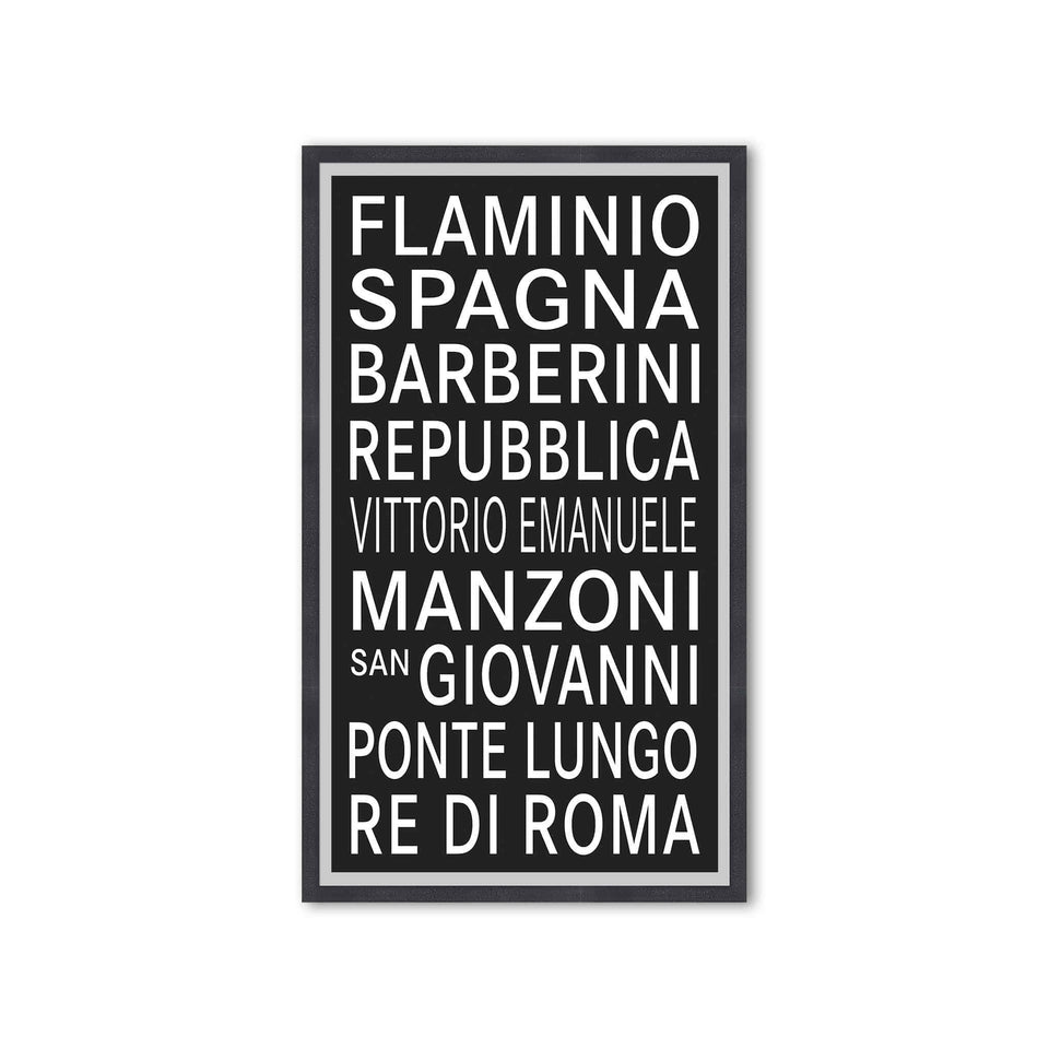ROME ITALY Bus Scroll - FLAMINIO - Foundry