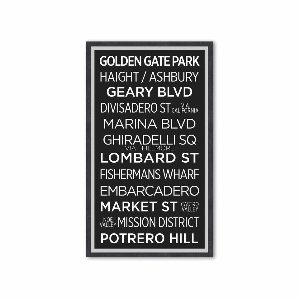SAN FRANCISCO Bus Scroll - GOLDEN GATE PARK - Foundry