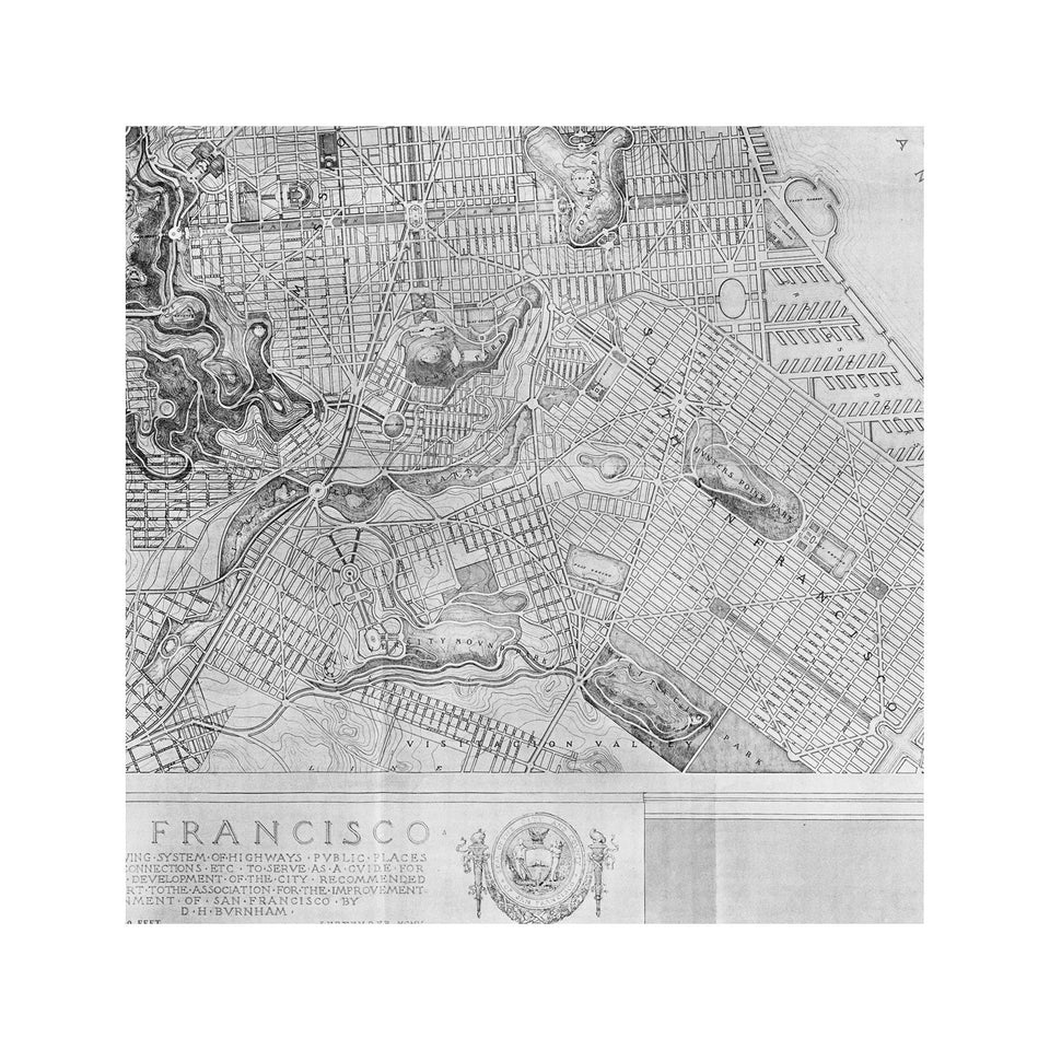 SAN FRANCISCO California Map - Foundry