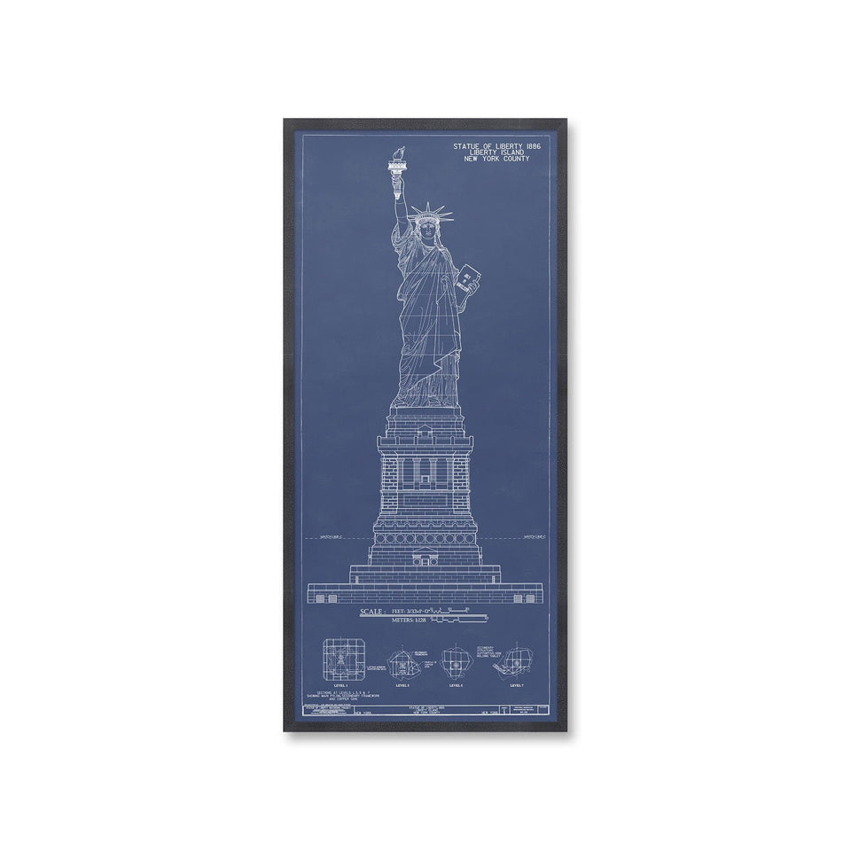 STATUE OF LIBERTY Elevation - Foundry