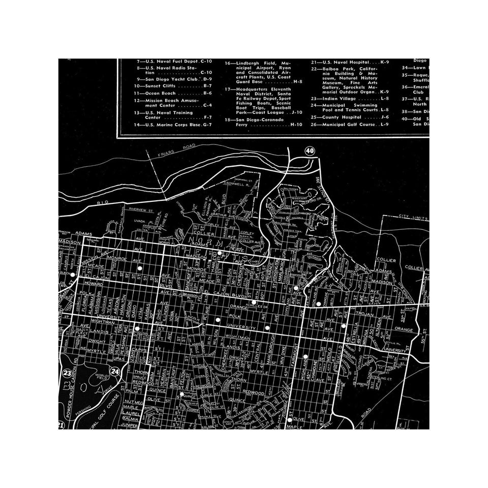 STREET MAP of SAN DIEGO - Foundry