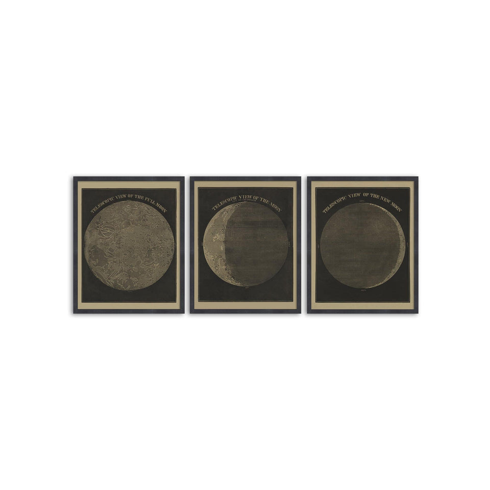 TELESCOPIC VIEWS of the MOON, Circa 1850s - COLLECTION - Foundry