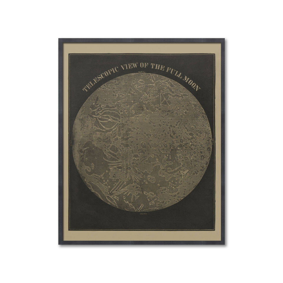 TELESCOPIC VIEWS of the MOON, Circa 1850s - The Full Moon - Foundry