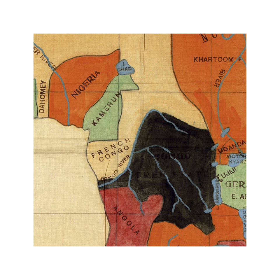 The WELLS MISSIONARY Map - COLONIZATION of AFRICA - Foundry