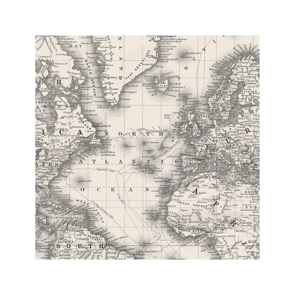 THE WORLD MAP, Circa 1852 - Foundry