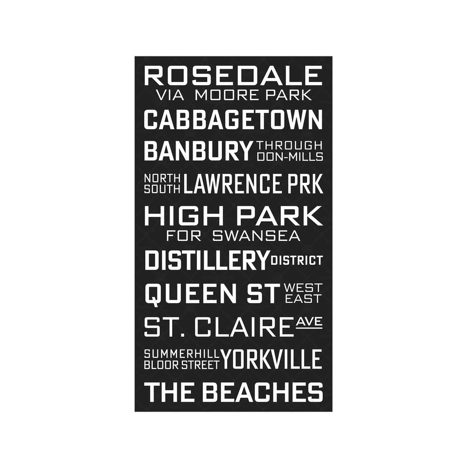 TORONTO CANADA Bus Scroll - ROSEDALE - Foundry