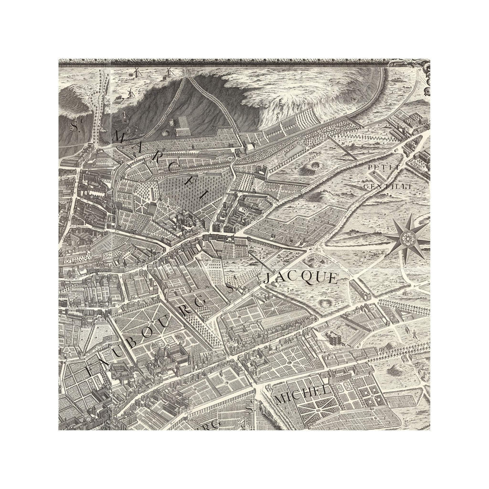 Turgot's 1739 PLAN de PARIS MAP - Panels - Foundry