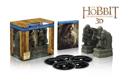 The Hobbit: The Desolation of Smaug Limited Edition with Book Ends (Blu-ray 3D + Blu-ray + DVD)