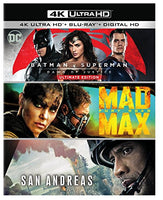 Batman v Superman: Dawn of Justice Ultimate Edition, Mad Max: Fury Road, San Andreas (Amazon Exclusive) (4K Ultra HD) [Blu-ray]