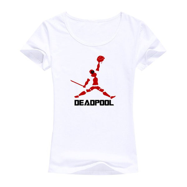2016 Fashion brand tops tees Deadpool t shirt women image summer women tops cotton Short sleeve t-shirt women funny punk tshirt
