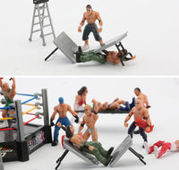 Arena set wrestler scene model ornament toys for children