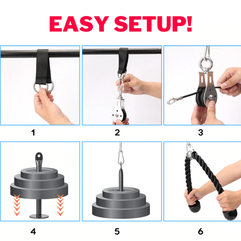 DIY Fitness Pulley Cable System HIIT gear