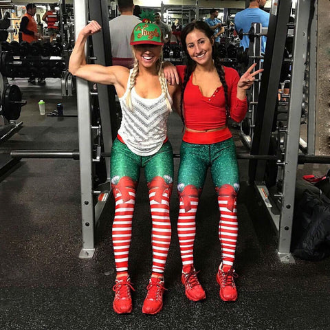 Christmas workout Bra