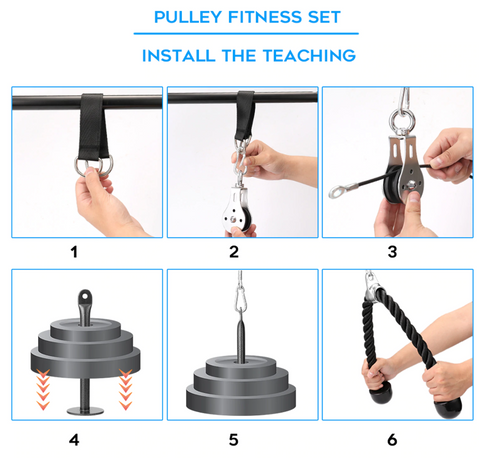 DIY Pulley Fitness Set HIIT gear