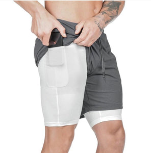 2-in-1 Secure Pocket Men Shorts - HIIT gear