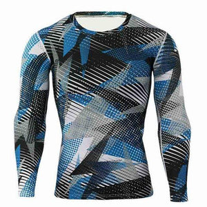 Patterned Long Sleeves HIIT Shirt - HIIT gear