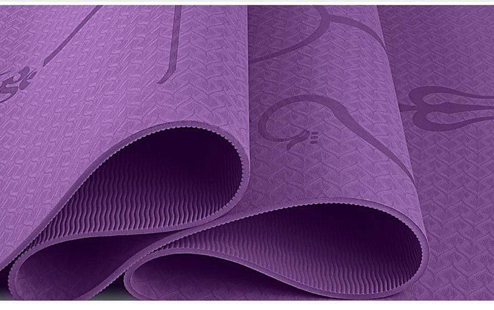 Premium Quality Yoga Mat with Position Line - HIIT gear