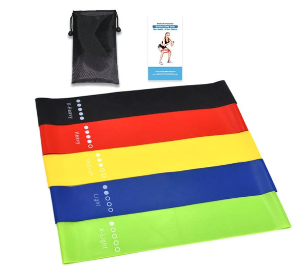 Unisex 5 Colors Yoga Resistance Bands Set - HIIT gear