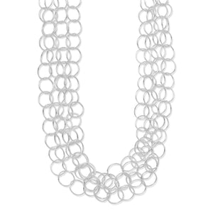 "17"" Multistrand Round Link Necklace"