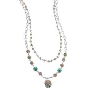 Baila Luna Labradorite Drop Necklace