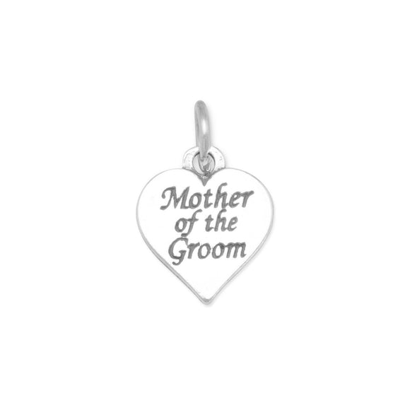 Oxidized Mother of the Groom Charm