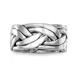 Oxidized Braided Ring in Men's Sizes