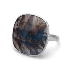 Soft Square Labradorite Ring