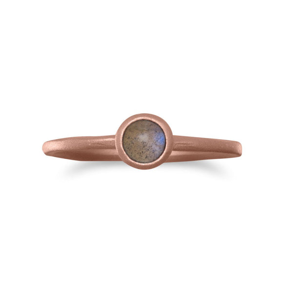 14 Karat Rose Gold Plated Moonstone Ring