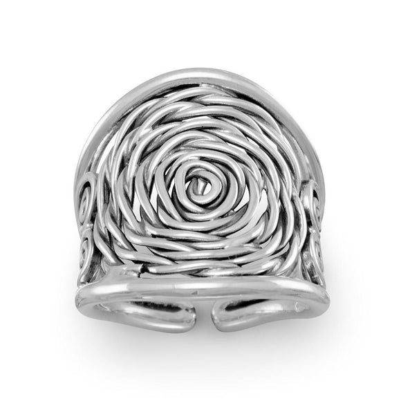 Oxidized Coil Design Ring
