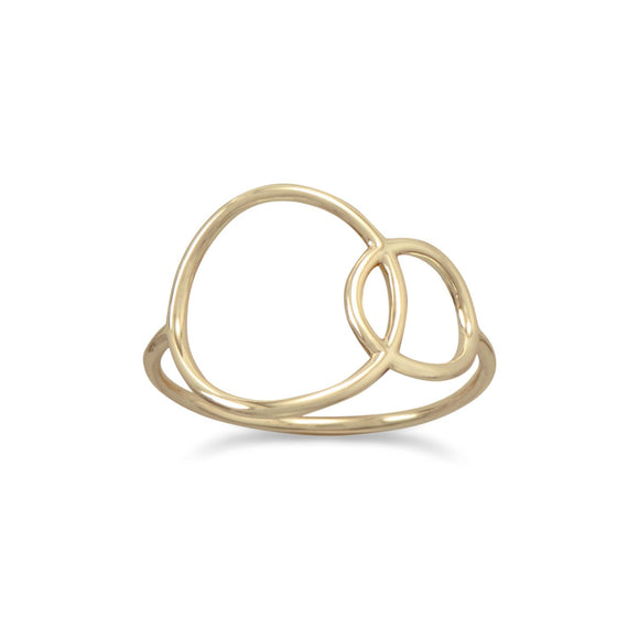 14 Karat Gold Plated Open Circle Ring