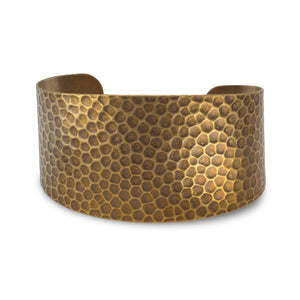 Antique Brass Hammered Cuff