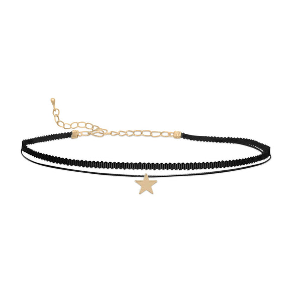 Double Strand Fashion Choker with Star Slide