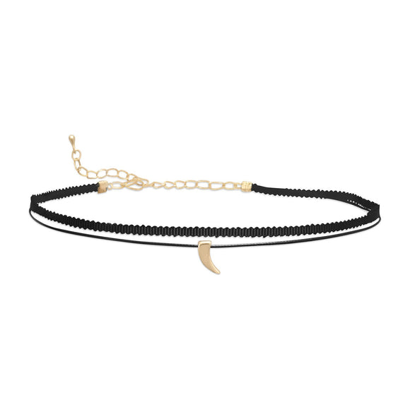 Double Strand Fashion Choker with Claw Slide