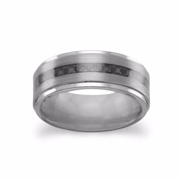 Tungsten Ring with Carbon Fiber Center