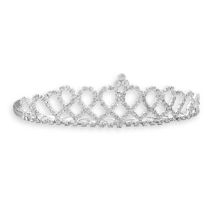 Crystal Ribbon Design Fashion Tiara