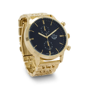 Gold Tone Men's Fashion Watch