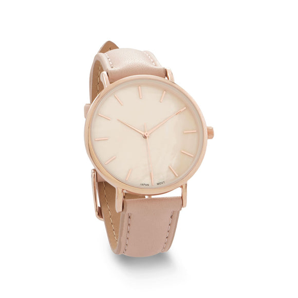 Blush Leather and Mother of Pearl Watch