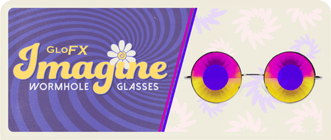 GloFX Imagine Kaleidoscope Glasses - Wormhole