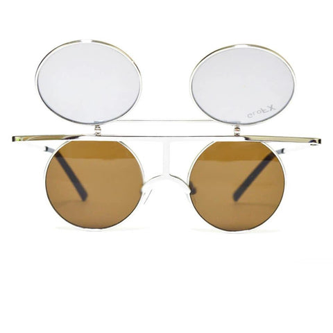 GloFX Flip Diffraction Glasses with vintage round shape